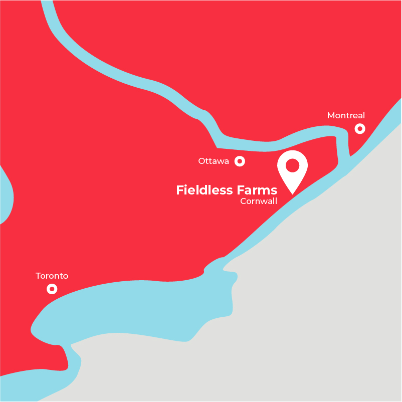 map showing farm location
